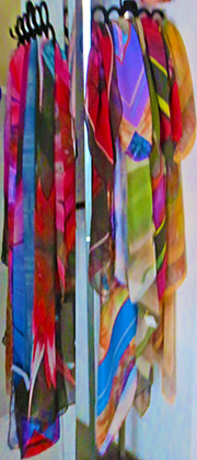 custom printing silk scarves